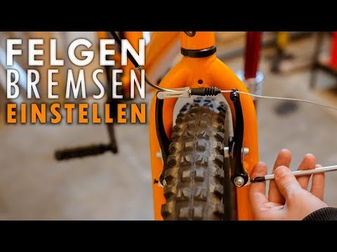 Fahrrad Felgen Bremse einstellen
