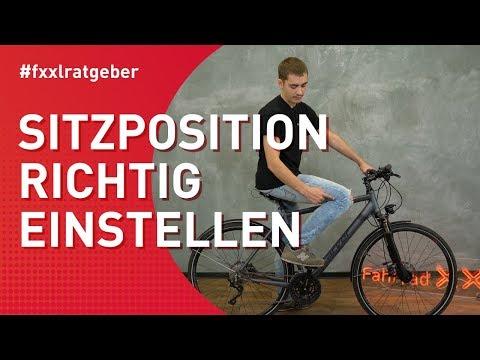 Sitzposition auf dem Fahrrad richtig einstellen