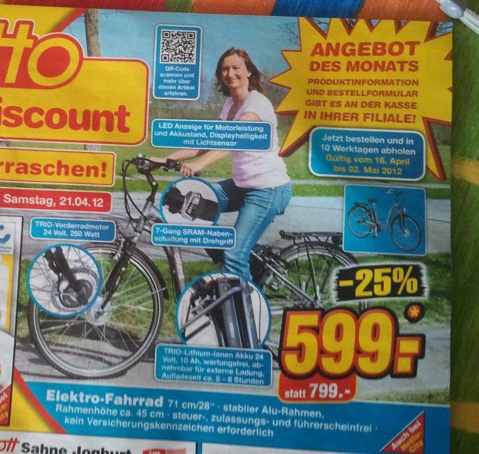 netto verkauft elektro fahrrad f r 599 euro und. Black Bedroom Furniture Sets. Home Design Ideas