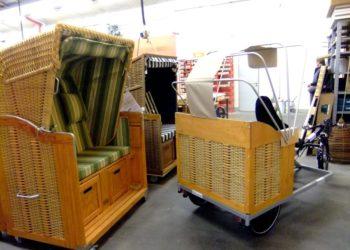 Trimobil Strandkorb-Taxi Verdeck Mechanikwerbeflächen / Foto: Toxy