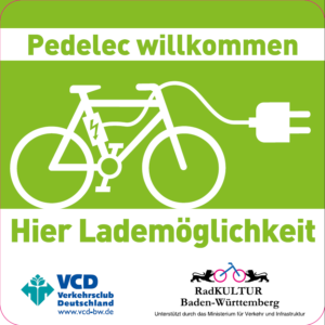 VCD Pedelec Willkommen-Aufkleber Foto: VCD