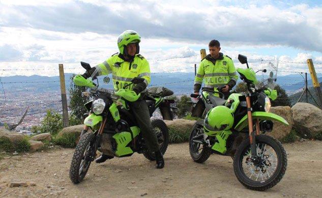 100 Elektro Motorr 228 Der F 252 R Kolumbianische Polizei Ebike