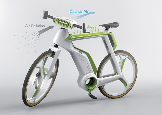 air purifier bike e bike soll luft aktiv reinigen ebike. Black Bedroom Furniture Sets. Home Design Ideas