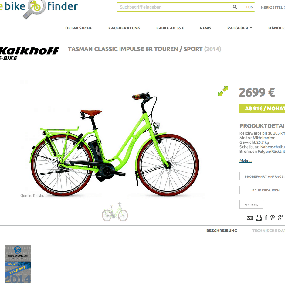e bike testsieger 2014 jetzt beim ebikefinder ebike. Black Bedroom Furniture Sets. Home Design Ideas