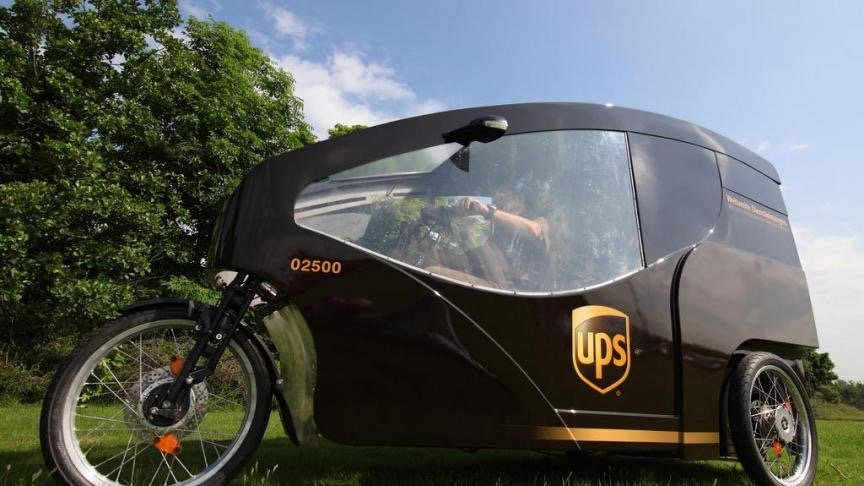 ups express lieferung per e lastenrad ebike. Black Bedroom Furniture Sets. Home Design Ideas