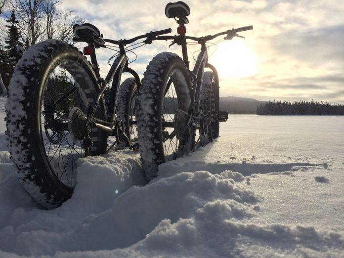 e-Bike fahren im Winter Fatbike Winter