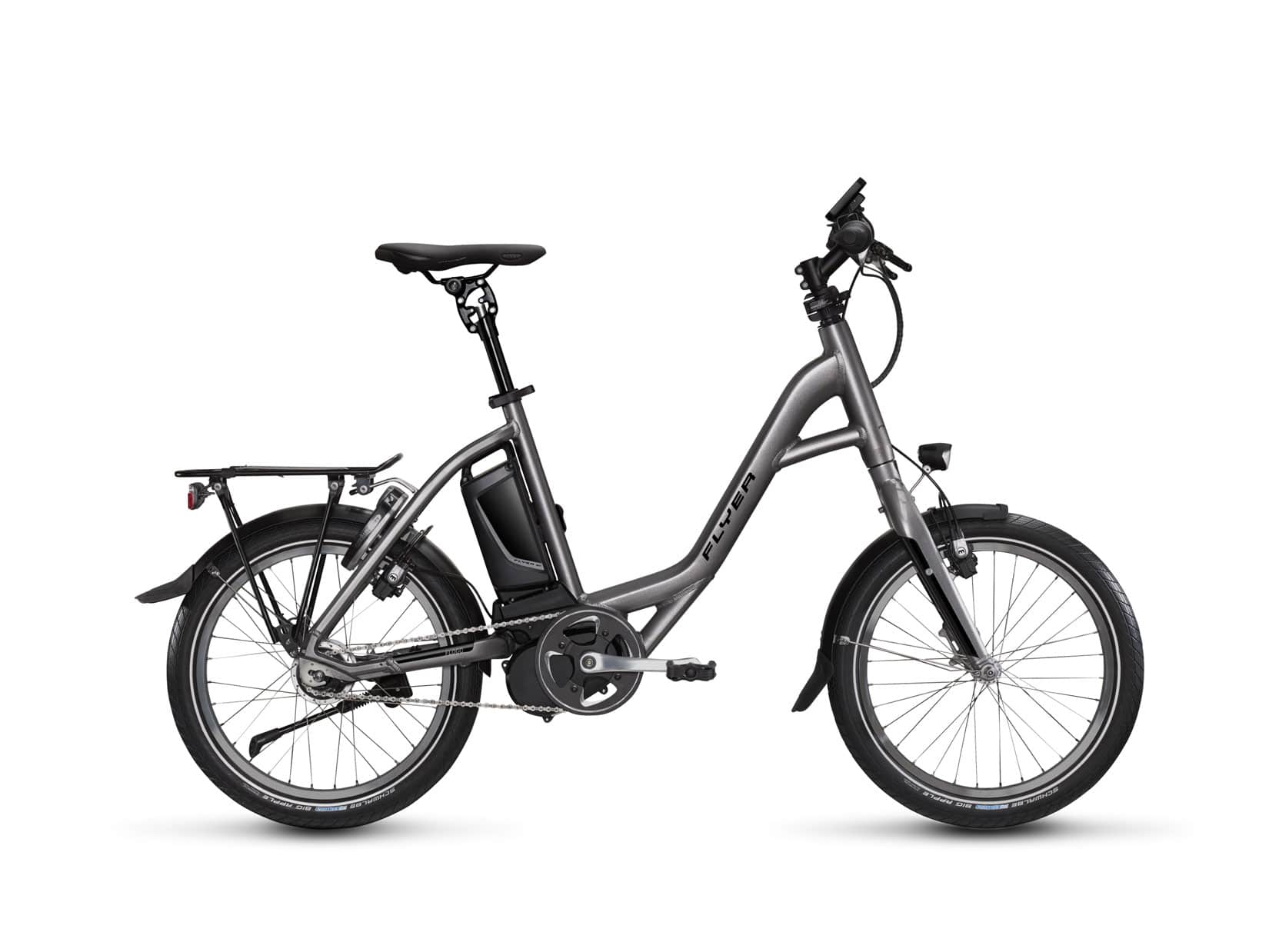 kompakt durch stadt und land flyer flogo im test ebike. Black Bedroom Furniture Sets. Home Design Ideas