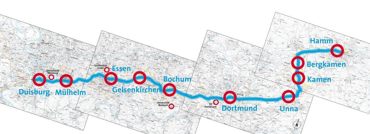 Duisburg bis Hamm Radschnellweg Ruhr RS1_1200px