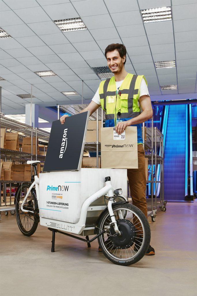 So könnte in Berlin zukünftig euer Paketbote aussehen. Der Amazon prime now Service.