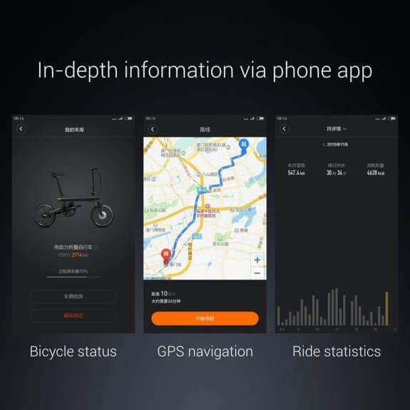 Xiaomi Mi Qicycle Smartphone App