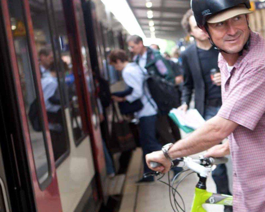 Umstieg auf eBike und Bahn