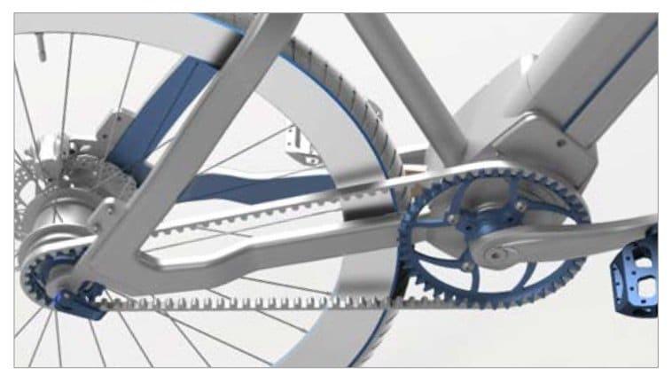 Riemenantrieb für Wartungsarmut im E-voluzione