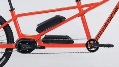 2x neuer e-Bike Akku: Detail Ansicht e-Tandem MTB Samedi 27 X2