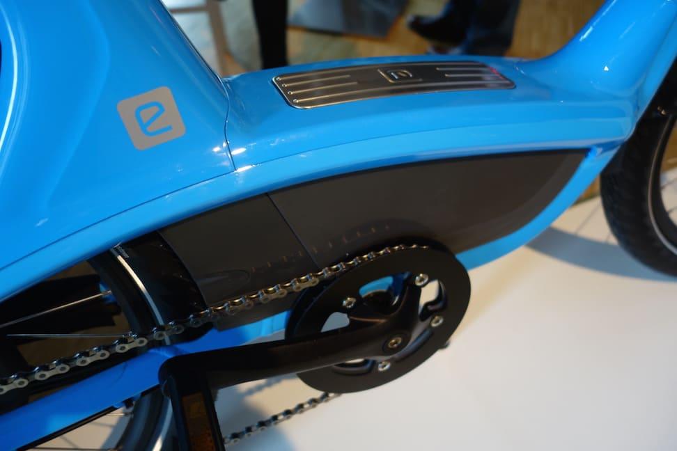 557Wh Akku des BionX D-Serie Antrieb im Elby e-Bike