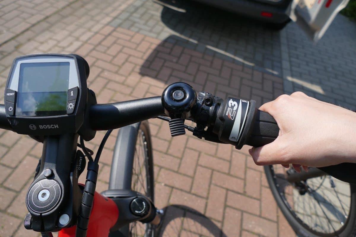 Lenker mit Drehgriff-Schaltung am UD1 e-Bike