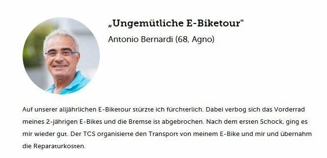 Schadenfall Bike