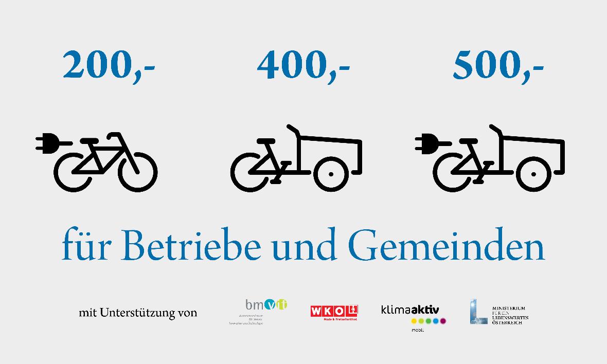 E-Bike Förderung Österreich im Schema