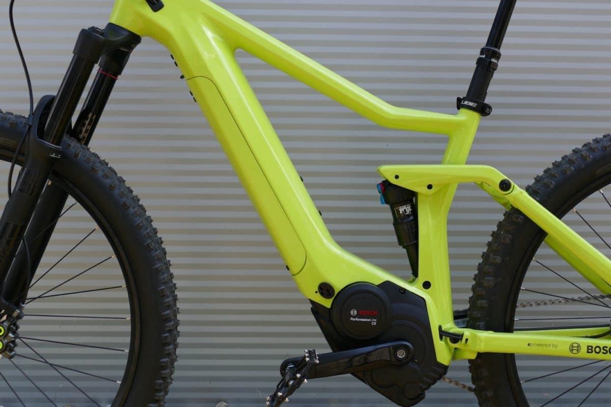 Integrierter PowerTube 500 e-Bike Akku im e-MTB