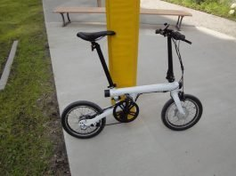 Komplettansicht QiCycle Falt-e-Bike von Xiaomi