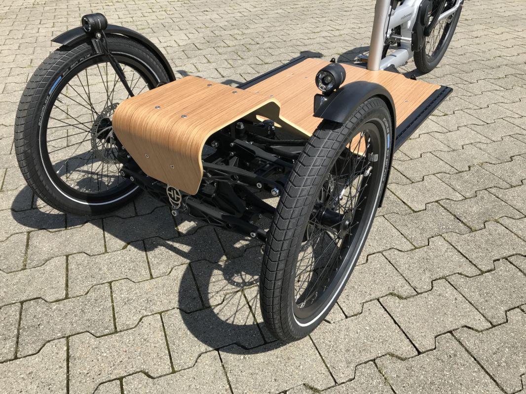 Sicht von Vorne auf CD1 Cargo e-Bike