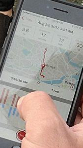 App zeigt Trip-Daten