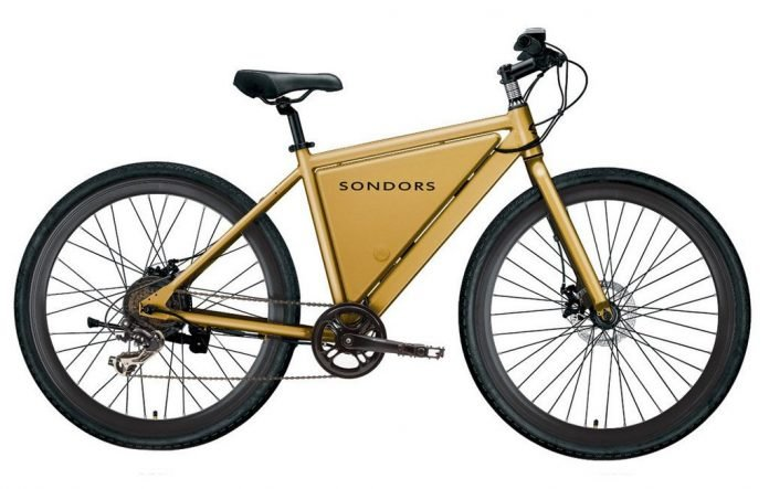 Sondors e-Bike Thin Gold