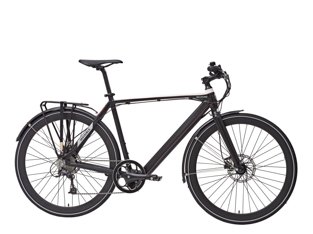Allegro e-Bikes Invisible Line Trekking City Rahmenhöhe 54 cm mit City Kit