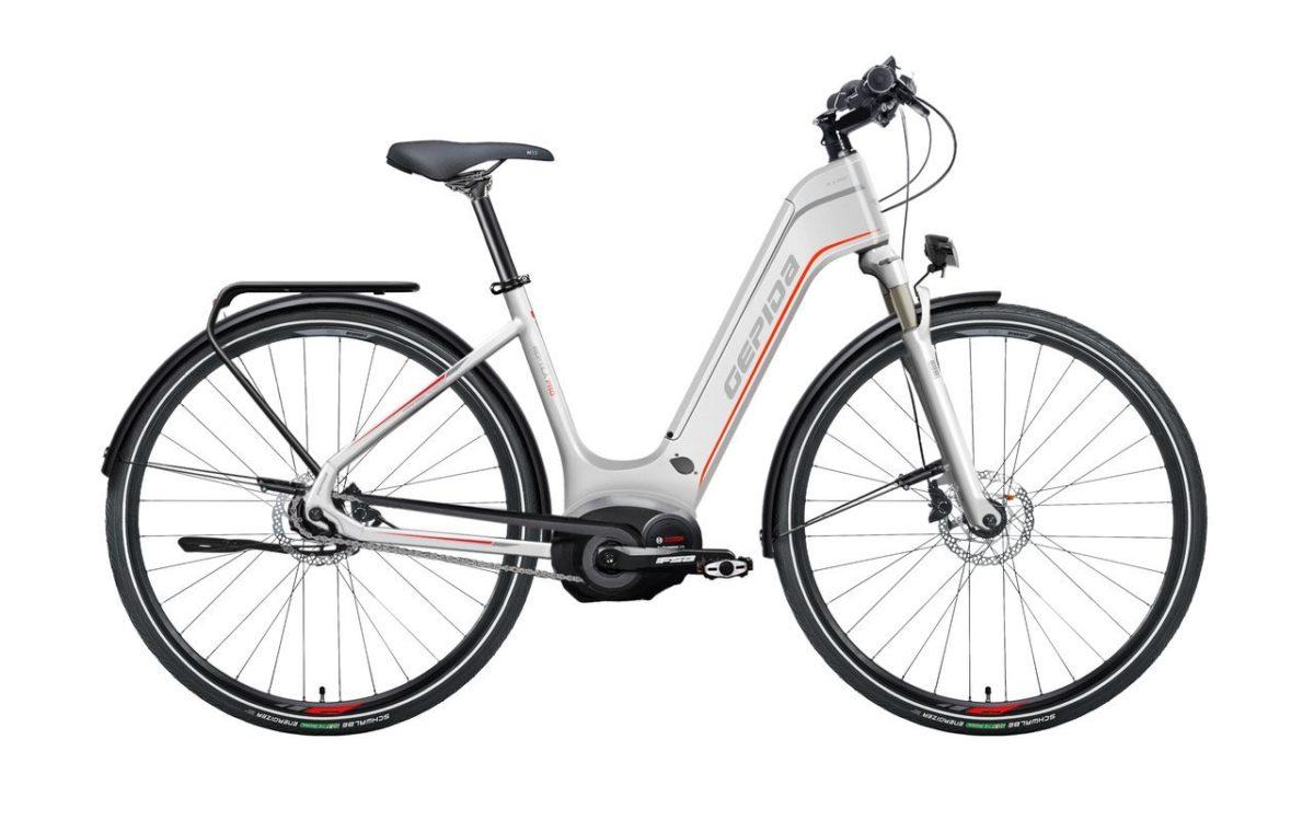 Gepida 2018 City-e-Bike Reptila Pro integriert wahlweise mit NX8-Alfine Di2