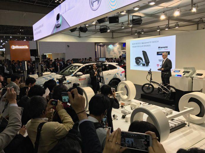 Tern und Bosch beim eBike Launch auf Tokyo Motor Show