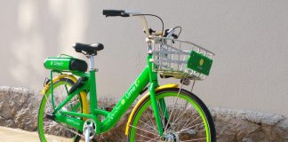 CES 2018 LimeBike Lime E Bike NDUL8248