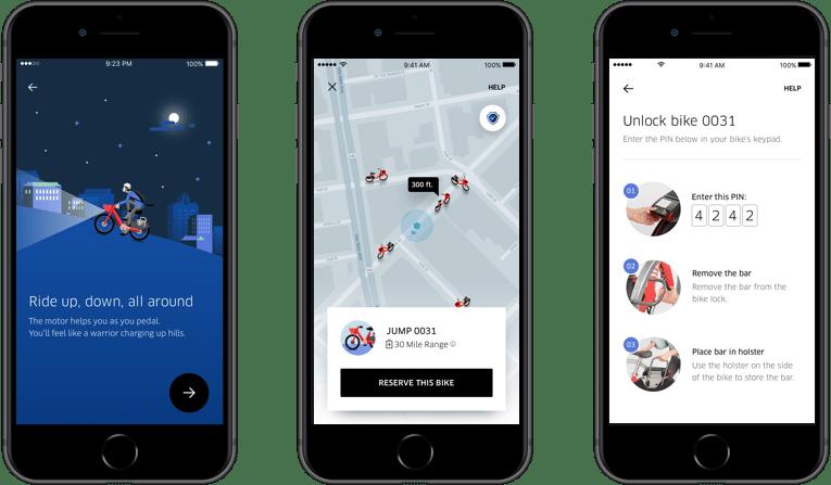 Per Uber App e-Bikes leihen