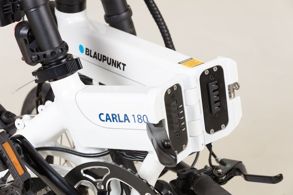 Faltmechanismus der Blaupunkt e-Falträder Carla und Carl