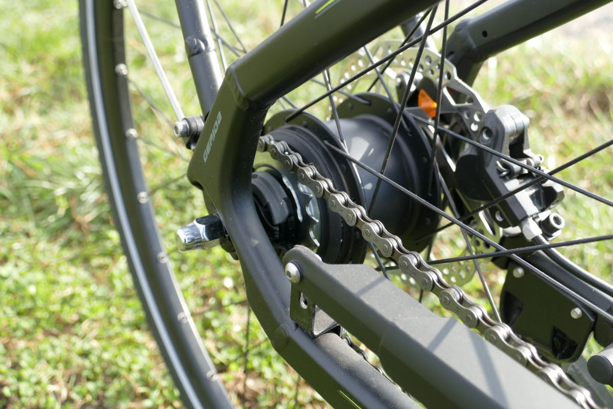 Gepida City e-Bike Test Reptilia Pro Nexus 8 Nabenschaltung