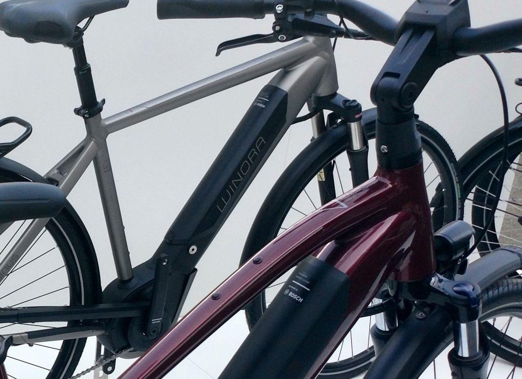 City e-Bikes von Winora mit Akku-Integration Bosch PowerTube