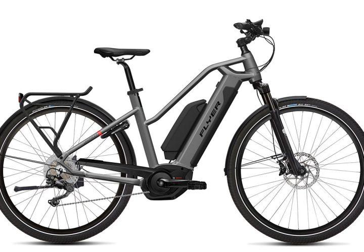 FLYER_E-Bikes_Upstreet4_Trapezrahmen_silverdarkcool_dual