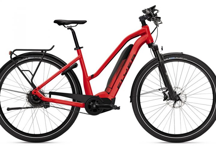 FLYER_E-Bikes_Upstreet5_Trapezrahmen_rot