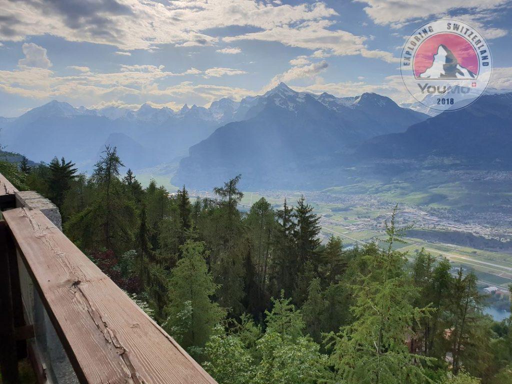 Sicht ins Wallis