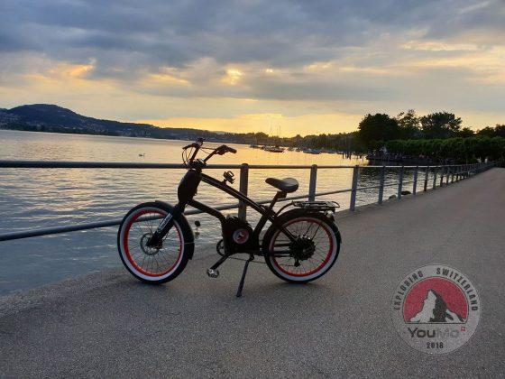 Schweiz 2018: Sonnenuntergang in Luzern