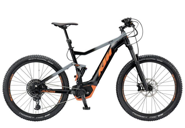 799414108_MACINA LYCAN 274 M-48_black matt (grey+orange)_236 KTM e-Bikes 2019