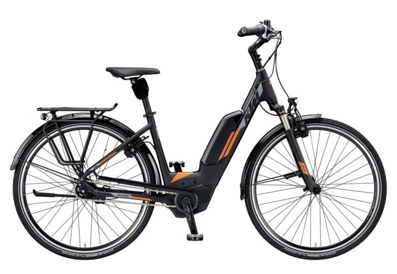 799474506_MACINA CITY 5 US S-46_black matt (grey+orange)_320 KTM e-Bikes 2019