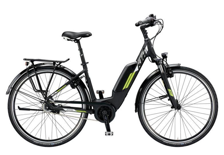 799476506_MACINA CENTRAL 8 RT A+5 US S-46_black matt (white+green)_187 KTM e-Bikes 2019