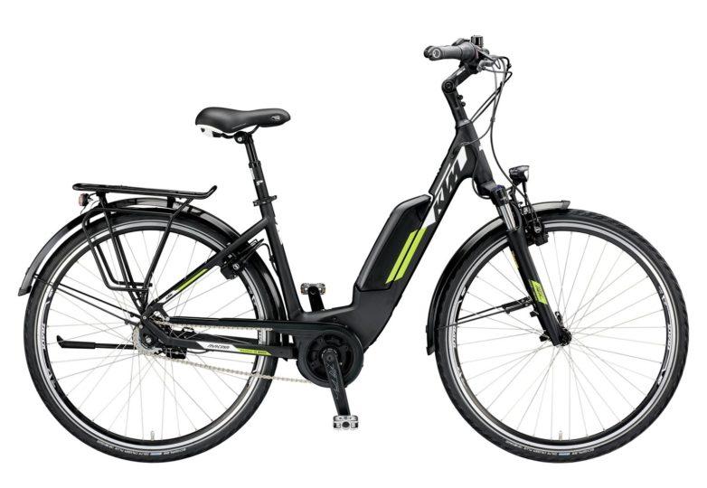 799477506_MACINA CENTRAL 8 A+5 US S-46_black matt (white+green)_121 KTM e-Bikes 2019