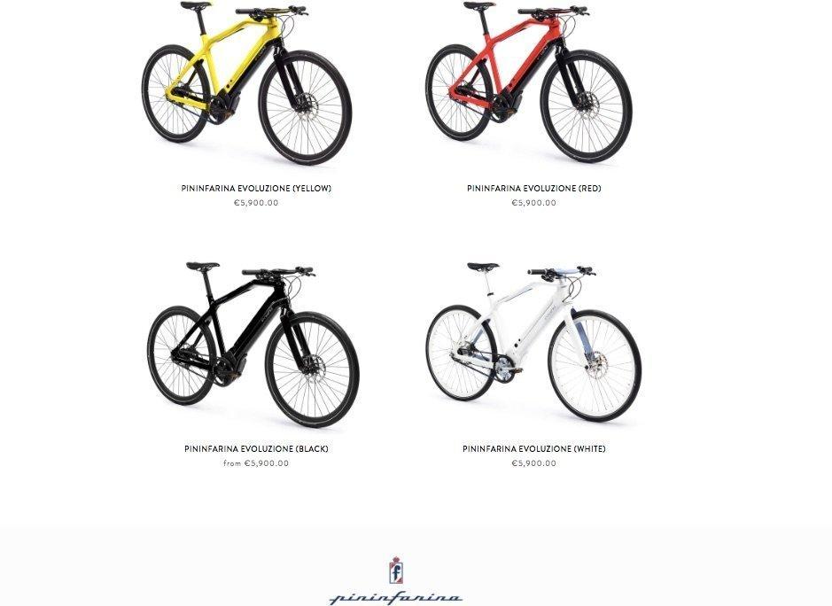 Pininfarina Evoluzione e-Bike im Webshop