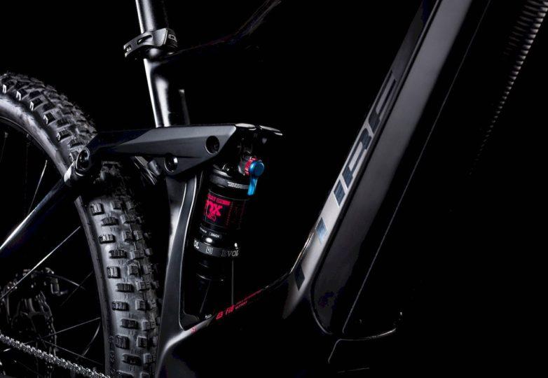 Hinterbau und Unterrohr Sting Hybrid 120 HPC SL 500 KIOX carbon´n´berry 2019