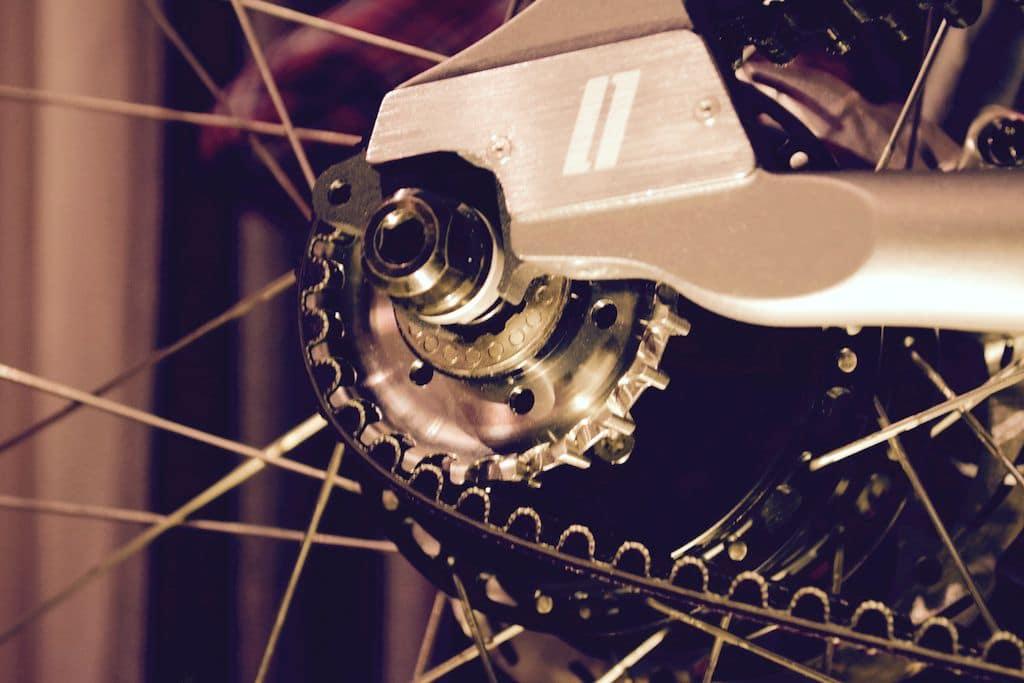 Versteckter Antrieb im Schindelhauer e-Bike
