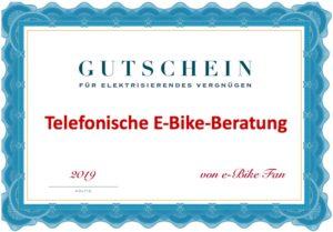 Gutschein E-Bike Beratung Beispiel Darstellung