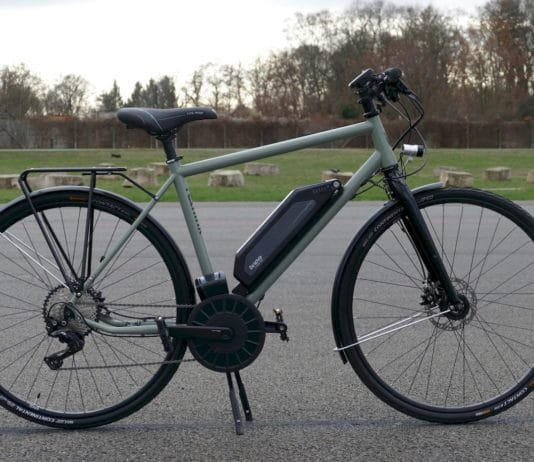 rethink@ City High Test e-Bike in Vollansicht