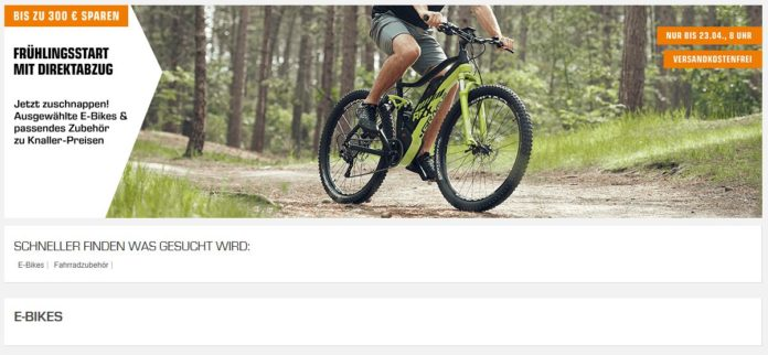 saturn bietet e bikes bei fr hjahrsaktion mit bis zu 300. Black Bedroom Furniture Sets. Home Design Ideas