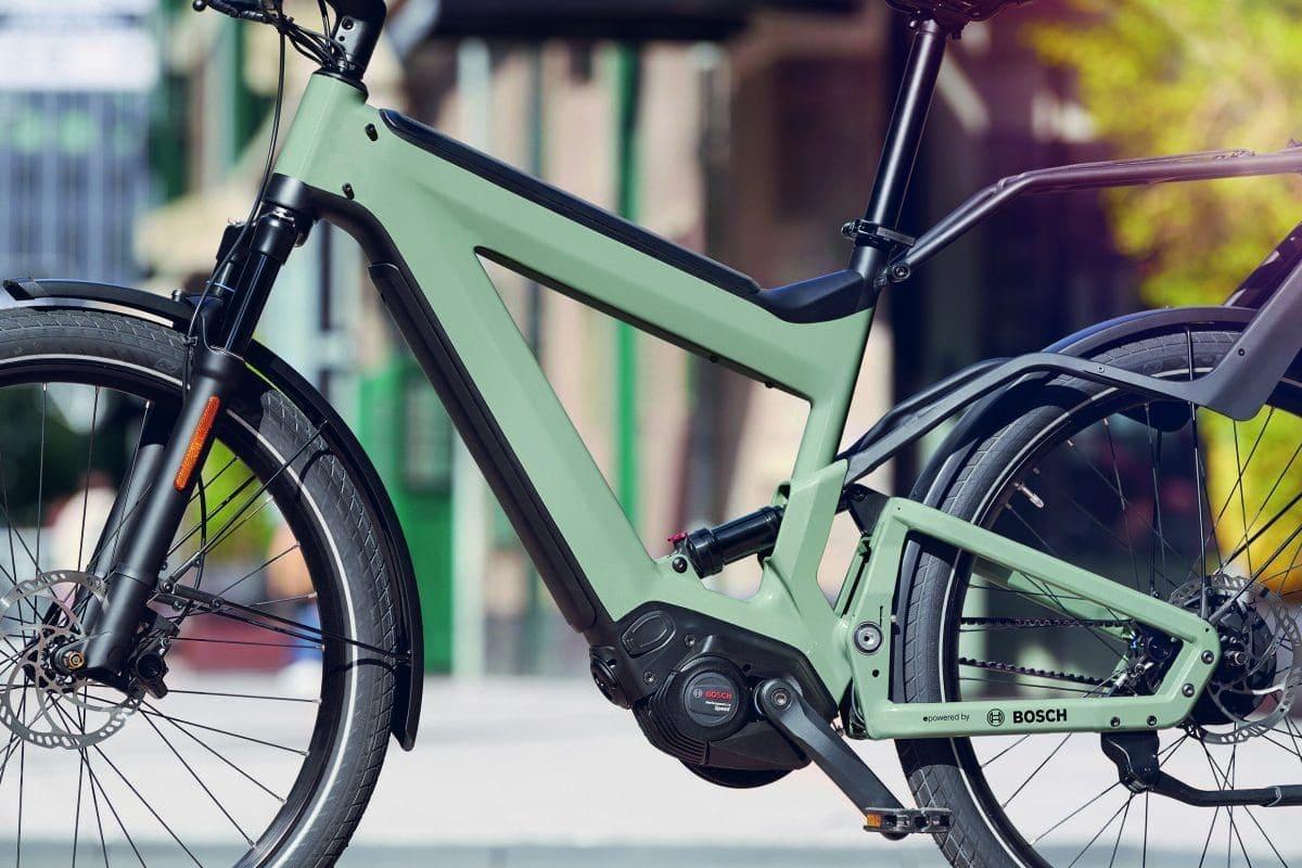 Die kleine Antriebseinheit mit großer Power fügt sich harmonisch in den Fahrradrahmen ein.