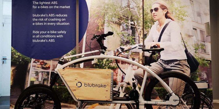 E-Lastenfahrrad mit blubrake ABS auf dem International Cargo Bike Festival